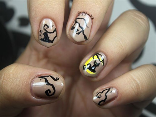 15-Cute-Halloween-Themed-Cat-Nail-Art-Designs-Ideas-Trends-Stickers-2015-5