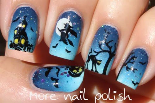 15-Cute-Halloween-Themed-Cat-Nail-Art-Designs-Ideas-Trends-Stickers-2015-7
