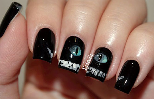 15-Cute-Halloween-Themed-Cat-Nail-Art-Designs-Ideas-Trends-Stickers-2015-9