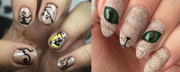 15-Cute-Halloween-Themed-Cat-Nail-Art-Designs-Ideas-Trends-Stickers-2015