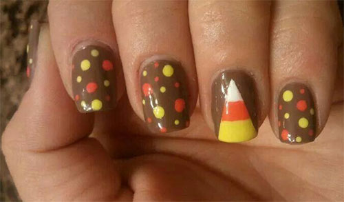 15 Halloween Inspired Candy Corn Nail Art Designs Ideas Stickers