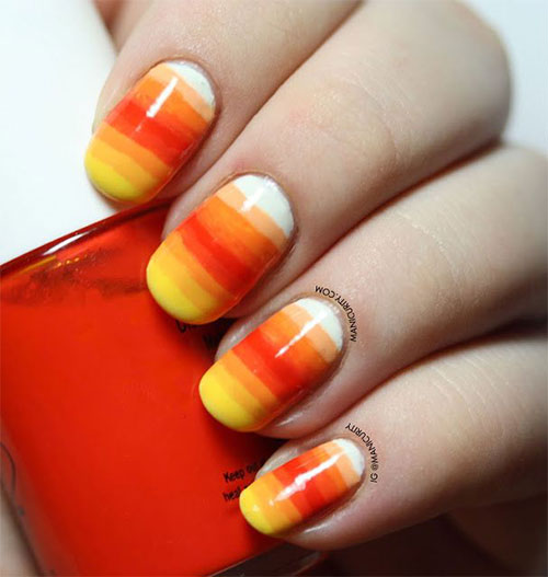 15 halloween inspired candy corn nail art designs ideas 15 halloween inspired candy corn nail art designs prinsesfo Image collections