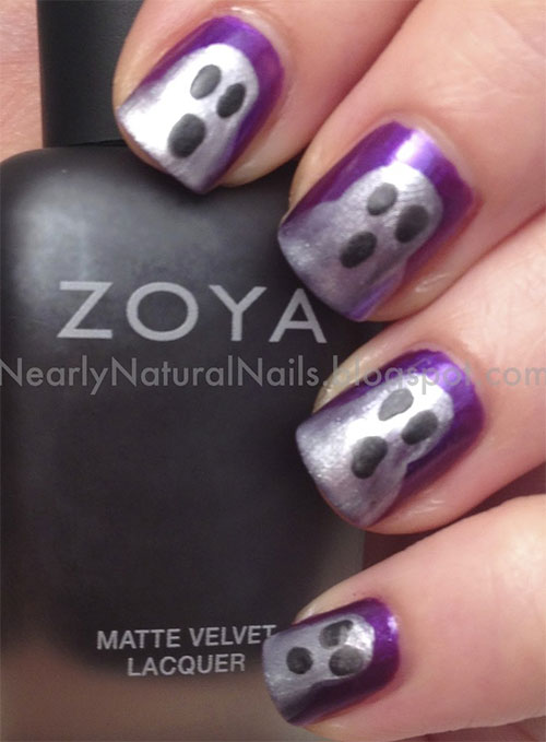 15 Halloween Inspired Ghost Nail Art Designs Ideas Trends 2015