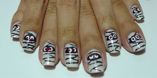 15-Halloween-Inspired-Mummy-Nail-Art-Designs-Ideas-Stickers-2015-1