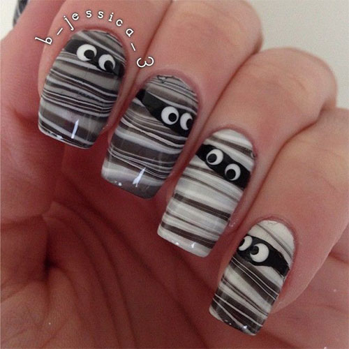 15-Halloween-Inspired-Mummy-Nail-Art-Designs-Ideas-Stickers-2015-10