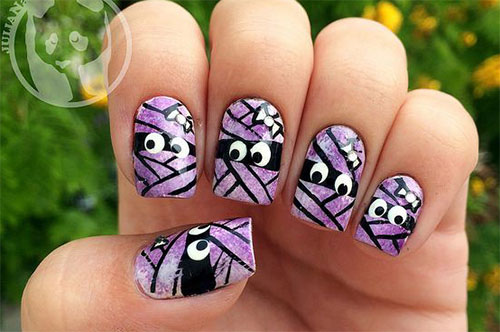 15-Halloween-Inspired-Mummy-Nail-Art-Designs-Ideas-Stickers-2015-12