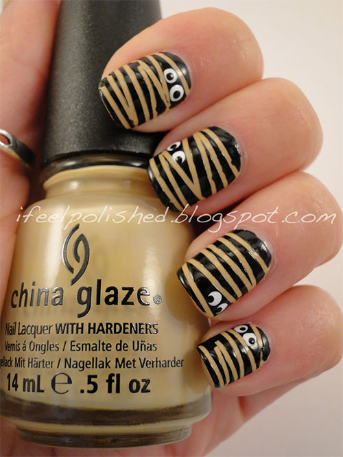 15-Halloween-Inspired-Mummy-Nail-Art-Designs-Ideas-Stickers-2015-4