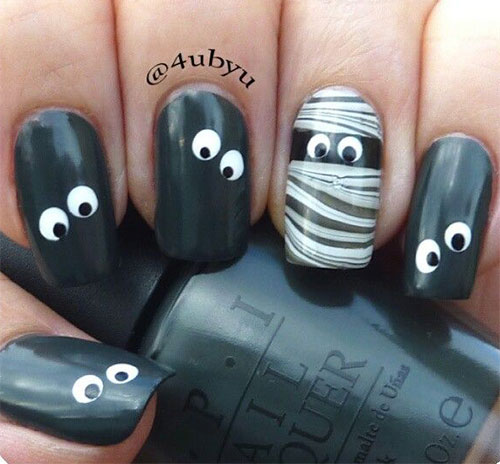 15-Halloween-Inspired-Mummy-Nail-Art-Designs-Ideas-Stickers-2015-7