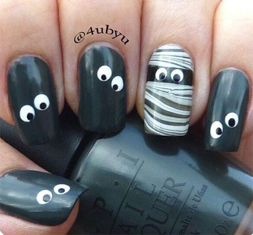 15-Halloween-Inspired-Mummy-Nail-Art-Designs-Ideas-Stickers-2015-7
