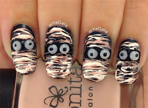 15-Halloween-Inspired-Mummy-Nail-Art-Designs-Ideas-Stickers-2015-8