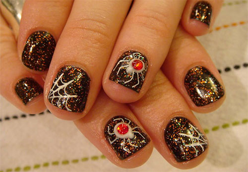 15-Halloween-Themed-Spider-Web-Nail-Art-Designs-Ideas-Stickers-2015-1