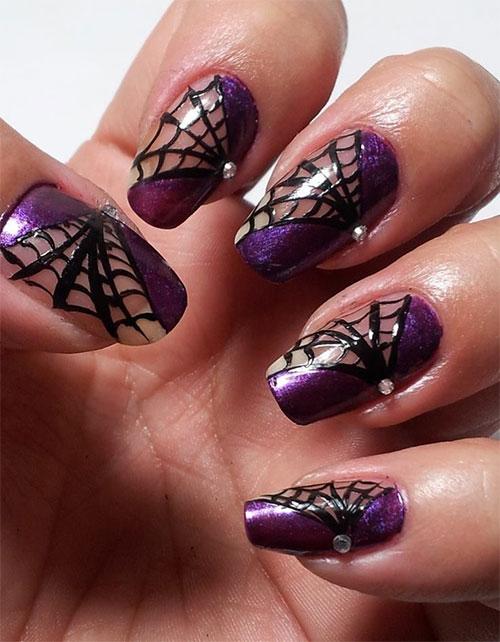 15-Halloween-Themed-Spider-Web-Nail-Art-Designs-Ideas-Stickers-2015-10