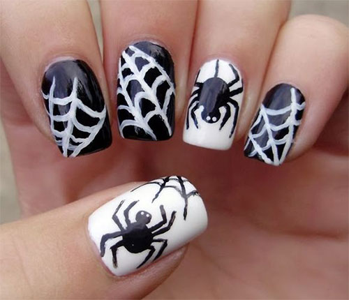 15-Halloween-Themed-Spider-Web-Nail-Art-Designs-Ideas-Stickers-2015-13
