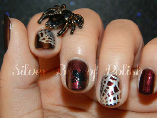 15-Halloween-Themed-Spider-Web-Nail-Art-Designs-Ideas-Stickers-2015-15