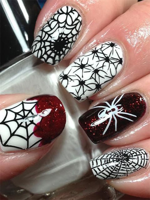 15-Halloween-Themed-Spider-Web-Nail-Art-Designs-Ideas-Stickers-2015-4