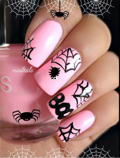 15-Halloween-Themed-Spider-Web-Nail-Art-Designs-Ideas-Stickers-2015-5