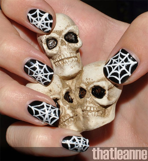 15-Halloween-Themed-Spider-Web-Nail-Art-Designs-Ideas-Stickers-2015-7