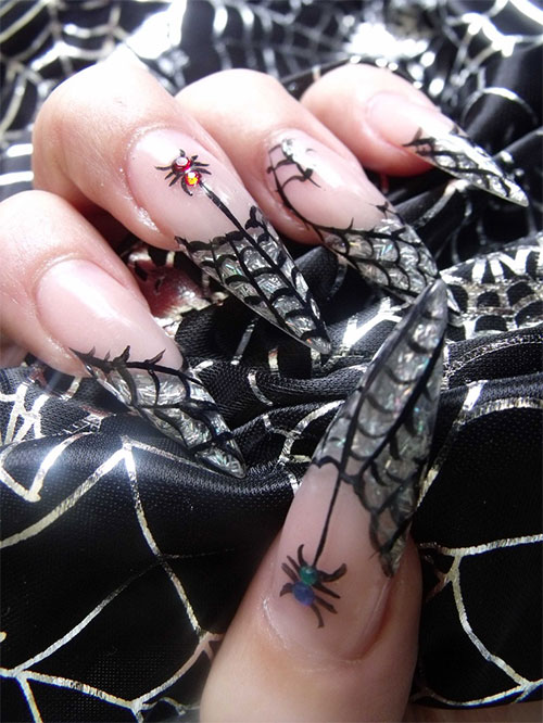 15-Halloween-Themed-Spider-Web-Nail-Art-Designs-Ideas-Stickers-2015-9