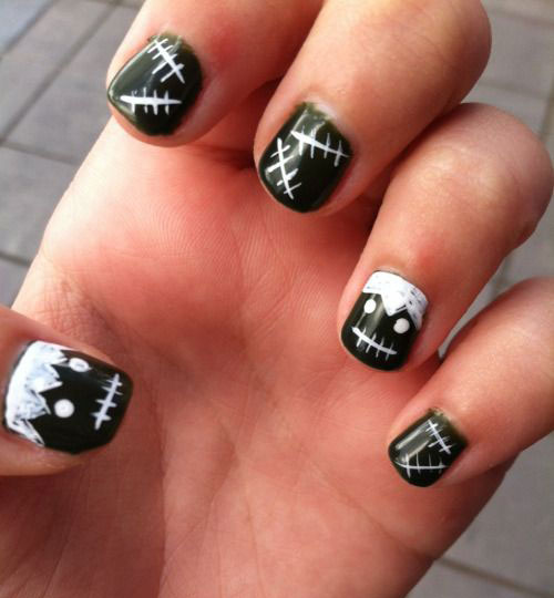 18-Simple-Halloween-Nail-Art-Designs-Ideas-Trends- - 18+ Simple Halloween Nail Art Designs, Ideas, Trends & Stickers 2015