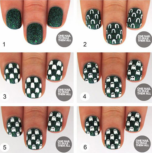 20 easy step by step halloween nail art tutorials for beginners 20 easy step by step halloween nail art prinsesfo Choice Image