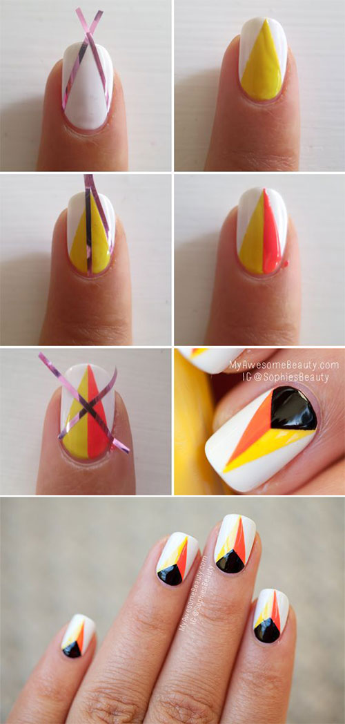 20 Easy Step By Step Halloween Nail Art Tutorials For Beginners 2015