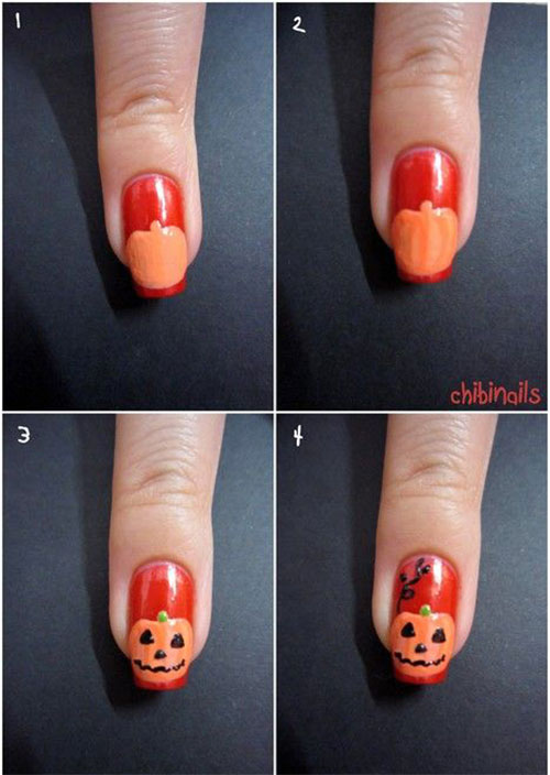 20 Easy Step By Step Halloween Nail Art Tutorials For Beginners 2015 ...