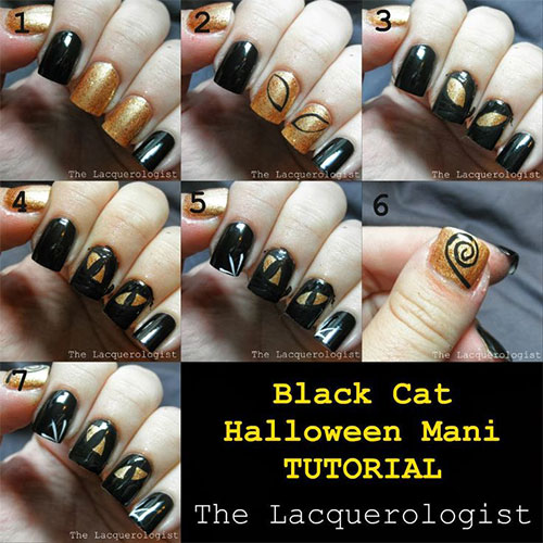20 easy step by step halloween nail art tutorials for beginners 20 easy step by step halloween nail art prinsesfo Images