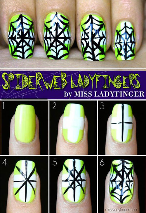 20 easy step by step halloween nail art - Halloween Easy Nail Art