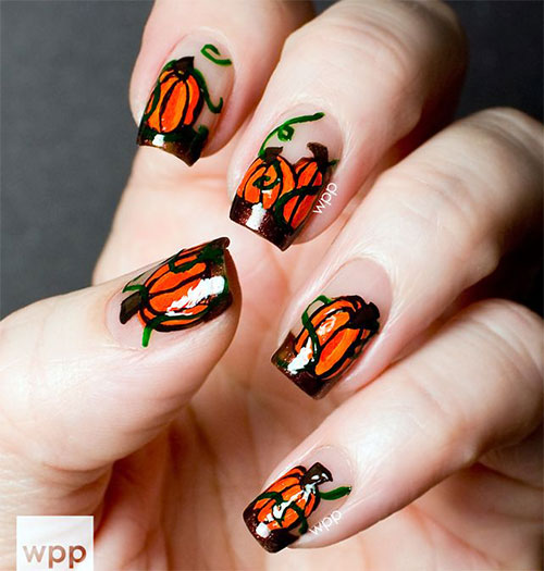 20 Pumpkin Nail Art Designs Ideas Trends
