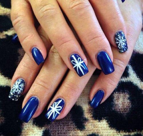 12 Easy Christmas Present Nail Art Designs Ideas 2015 Xmas