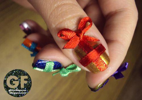 12-Easy-Christmas-Present-Nail-Art-Designs-Ideas-2015-Xmas-Nails-13