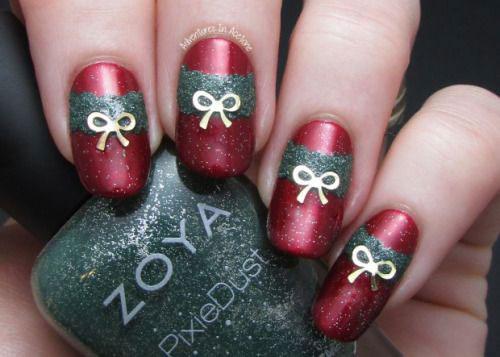 12-Easy-Christmas-Present-Nail-Art-Designs-Ideas-2015-Xmas-Nails-3
