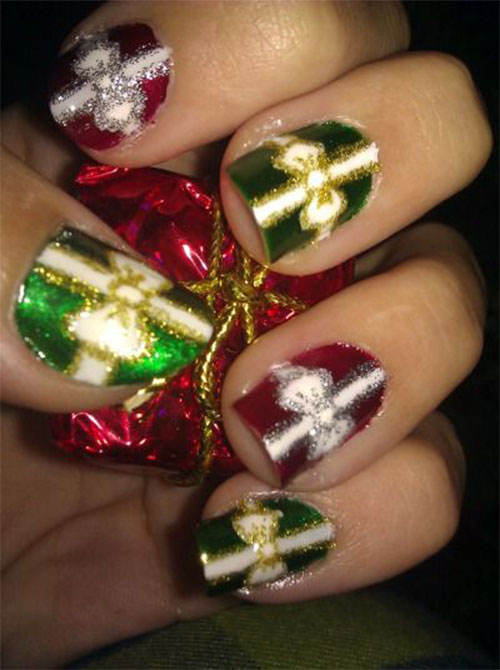 12-Easy-Christmas-Present-Nail-Art-Designs-Ideas-2015-Xmas-Nails-4