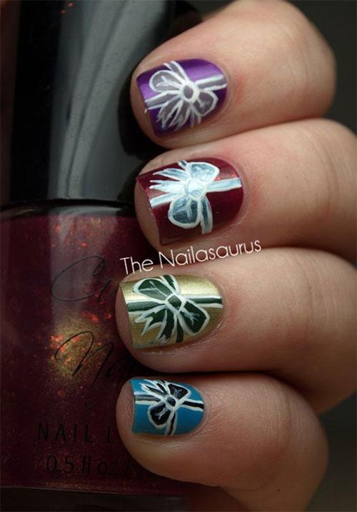 12 easy christmas present nail art designs amp ideas 2015