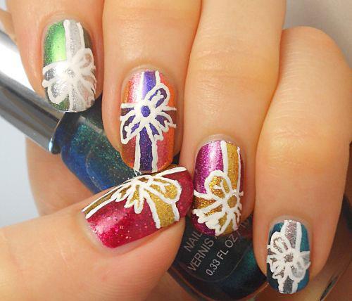 12-Easy-Christmas-Present-Nail-Art-Designs-Ideas-2015-Xmas-Nails-9