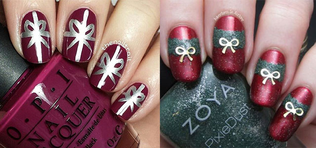 12 Easy Christmas Present Nail Art Designs Ideas 2017 Xmas Nails Fabulous
