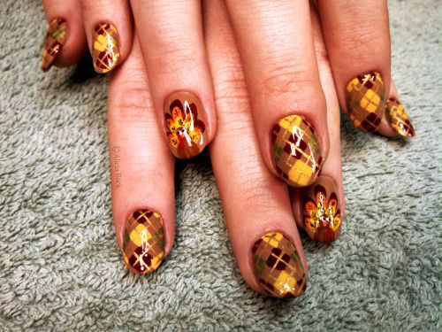 15 Best Turkey Nail Art Designs Ideas Trends 2015 Thanksgiving