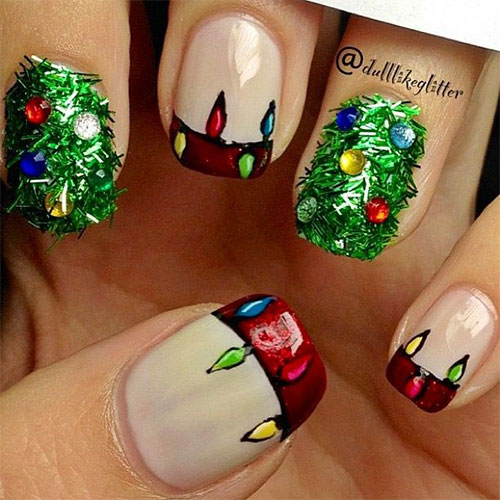 15-Christmas-Lights-Nail-Art-Designs-Ideas-Stickers-2015-Xmas-Nails-3