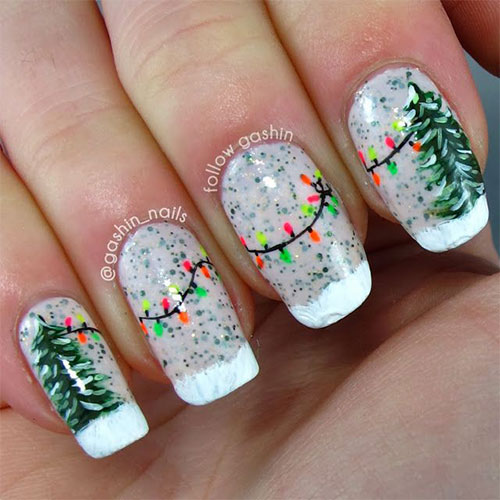 15 Christmas Lights Nail Art Designs Ideas Stickers 2015 Xmas