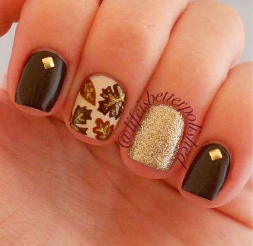 Simple Fall Nail Designs: 15+ Cute & Easy Fall / Autumn Nail Art Designs & Ideas