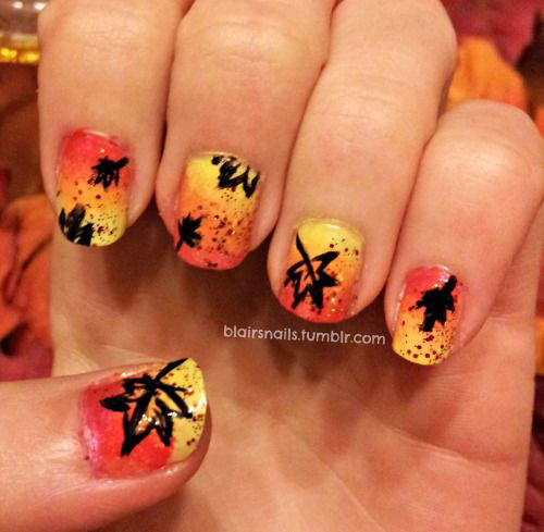 15-Cute-Easy-Fall-Autumn-Nail-Art-Designs-Ideas-2015-3