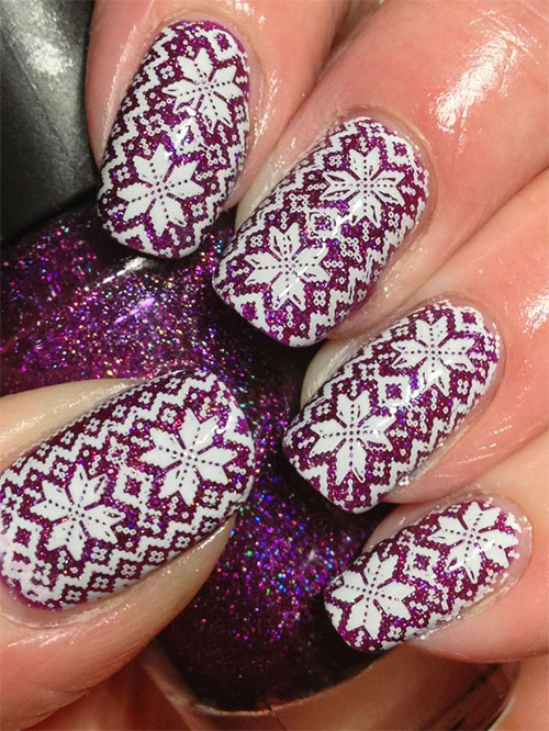 15-Ugly-Christmas-Sweater-Nail-Art-Designs-Ideas-Stickers-2015-Xmas-Nails-10