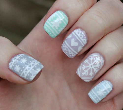 15-Ugly-Christmas-Sweater-Nail-Art-Designs-Ideas-Stickers-2015-Xmas-Nails-3