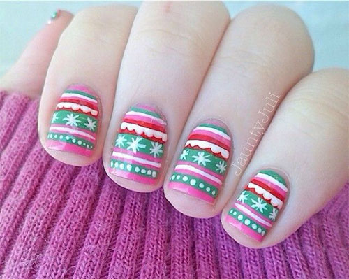15-Ugly-Christmas-Sweater-Nail-Art-Designs-Ideas-Stickers-2015-Xmas-Nails-8