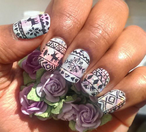 15-Ugly-Christmas-Sweater-Nail-Art-Designs-Ideas-Stickers-2015-Xmas-Nails-9