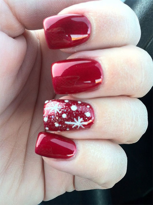 18 Easy Cute Christmas Nail Art Designs Ideas
