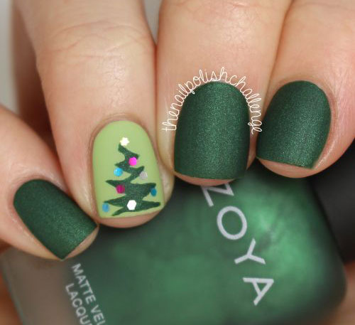 18-Easy-Cute-Christmas-Nail-Art-Designs-Ideas- - 18 Easy & Cute Christmas Nail Art Designs, Ideas & Trends 2015
