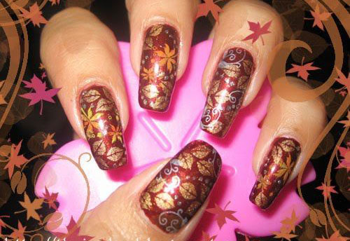 25-Best-Autumn-Leaf-Nail-Art-Designs-Ideas-Stickers-2015-Fall-Nails-17