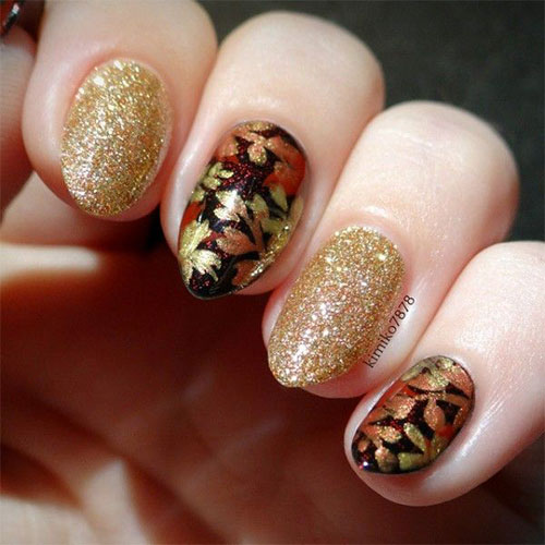 25 Best Autumn Leaf Nail Art Designs Ideas Amp Stickers
