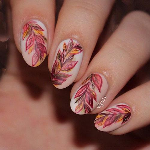 Pedicure Nail Art Designs For Fall: 25+ Best Autumn Leaf Nail Art Designs, Ideas & Stickers